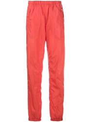 Prada Logo Print Track Trousers Yellow And Orange