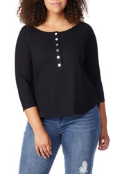 Rebel Wilson X Angels Plus Size Rib Knit Henley Top