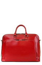 Lodis 'Audrey Brera' Leather Briefcase Red