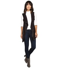 Calvin Klein Distressed Long Vest Black Women's Vest