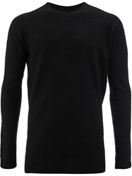 Label Under Construction Crew Neck Jumper Silk Cashmere M Black