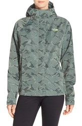 The North Face Women's 'Novelty Venture' Waterproof Jacket Laurel Wreath Green Camo