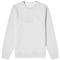 Norse Projects Vagn Embroidered Logo Sweat Grey