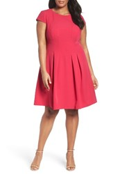 Adrianna Papell Plus Size Women's Power Stretch Fit And Flare Dress
