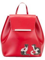 N 21 No21 Embellished Cats Backpack Red