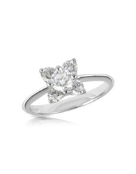 Forzieri Diamond Flower 18K White Gold Ring