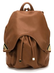 Valas Leather Backpack Brown