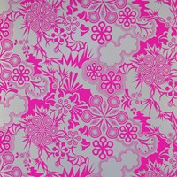 Flavor Paper Party Girl Wallpaper Sample Swatch Electric Raspberry On Silver Mylar Sample