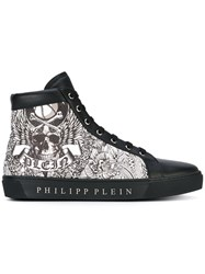 Philipp Plein Hi Top Sneakers Men Leather Rubber 42 Black