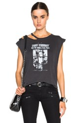 R 13 R13 Bowie Ripped Tee In Black