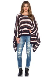 Chaser Kanga Pocket Sweater Poncho Navy