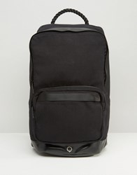 Stighlorgan Cillian Backpack In Cotton Canvas Black