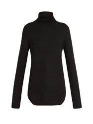 Raey Ribbed Knit Cashmere Sweater Black