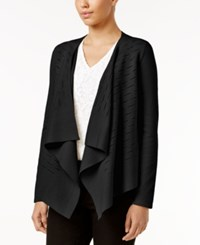 Alfani Draped Cardigan Only At Macy's Deep Black