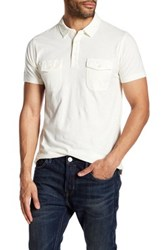 Lucky Brand Short Sleeve Polo White