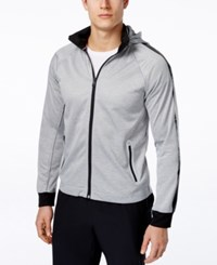 Tommy Hilfiger Men's Contrast Performance Trim Track Jacket Grey Heather