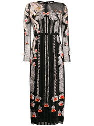 Temperley London Embroidered Tulle Dress Black