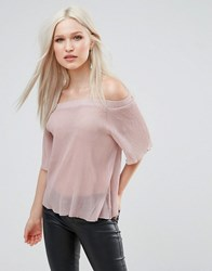Ax Paris Bardot Top Pink