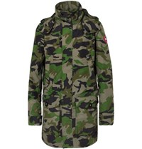 Canada Goose Crew Camouflage Print Shell Jacket Army Green