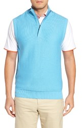 Bobby Jones Men's Pique Jersey Quarter Zip Golf Vest