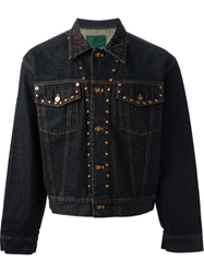 Jean Paul Gaultier Vintage 'Junior Gaultier' Studded Denim Jacket Blue