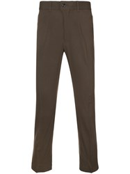 Julien David Tailored Trousers Polyurethane Wool Xl Green