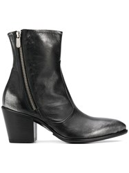 Rocco P. Pointed Toe Ankle Boots Black