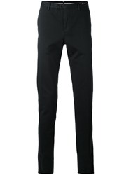 Pt01 Skinny Tailored Trousers Men Silk Cotton Spandex Elastane 46 Black