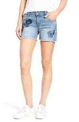 Kut From The Kloth Women's Gidget Embroidered Denim Cutoff Shorts