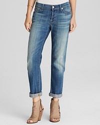 7 For All Mankind Jeans Josefina Boyfriend In Bright Broken Twill