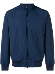 Aspesi Zip Up Bomber Jacket Blue