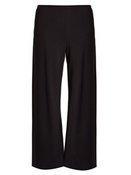 The Row Dala Cropped Wide Leg Cady Trousers Navy