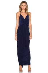 T Bags Losangeles Twist Front Maxi Dress Navy
