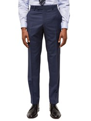 Jaeger Wool Hammerhead Regular Fit Suit Trousers Chambray