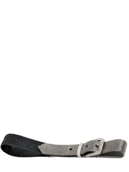 Laura B 40Mm Python And Silver Mesh Belt Black Silver
