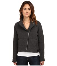 Obey Sierra Quilted Wrap Jacket Heather Black Women's Coat