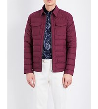 Etro Feather And Down Quilted Jacket Burgundy
