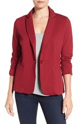 Olivia Moon Women's Knit Blazer Burgundy