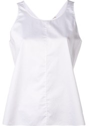 Forte Forte Scoop Neck Vest White