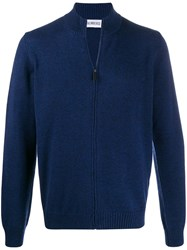 Dirk Bikkembergs Zipped Ribbed Knit Cardigan 60