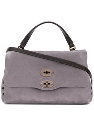 Zanellato Stud Detailed Satchel Bag Grey