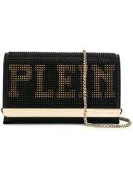 Philipp Plein Lettering Crossbody Bag Black
