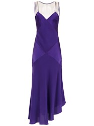 Mara Mac Long Silk Dress Purple