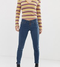 Noisy May Petite Front Seam Skinny Jean Blue