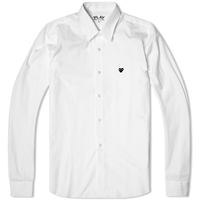 Comme Des Garcons Play Little Black Heart Basic Shirt White