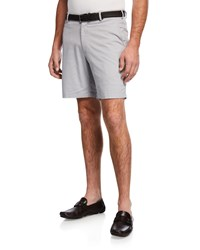 Peter Millar Soft Touch Twill Shorts Gray