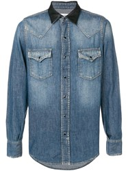 Saint Laurent Classic Western Shirt Blue