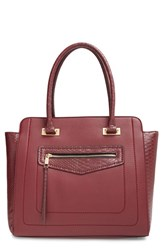 Sole Society Structured Faux Leather Tote Purple Berry
