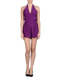 Motel Rocks Dungarees Short Dungarees Women Purple