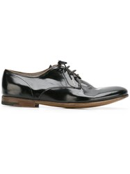 Premiata Piped Trim Derby Shoes Black